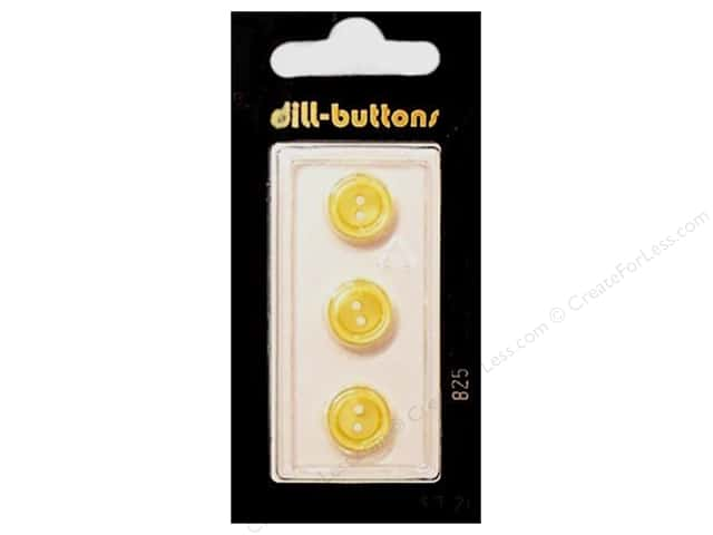 Dill 2 Hole Buttons 5/8 in. Yellow Flower #825 3pc.