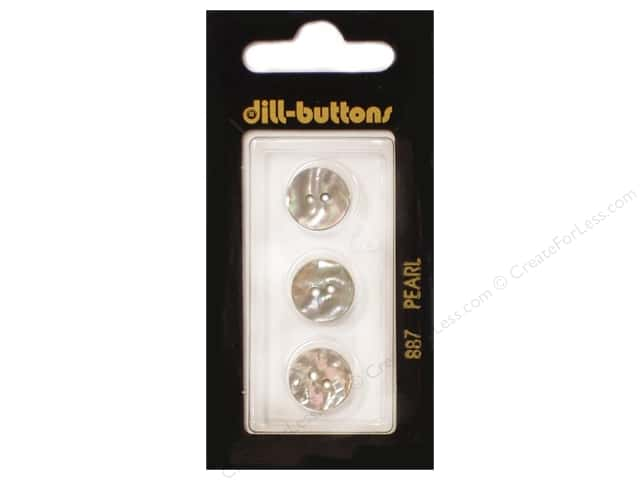 Dill 2 Hole Buttons 1/2 in. Beige Mother of Pearl #887 3pc.