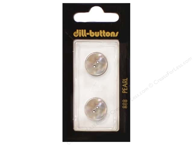 Dill 2 Hole Buttons 5/8 in. Mother of Pearl Beige #888 2pc.