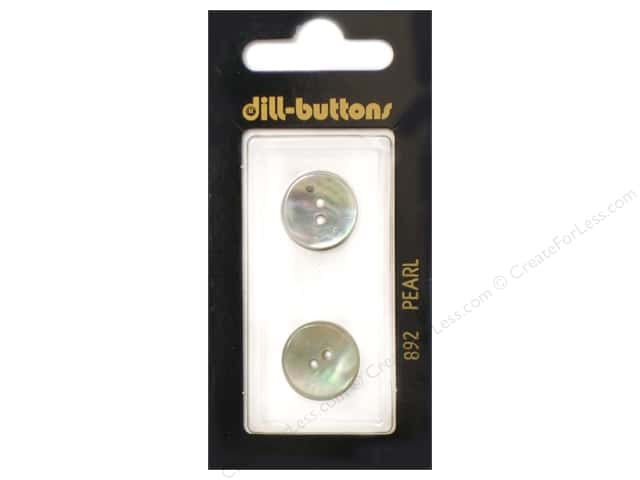 Dill 2 Hole Buttons 5/8 in. White Mother of Pearl #892 2pc.