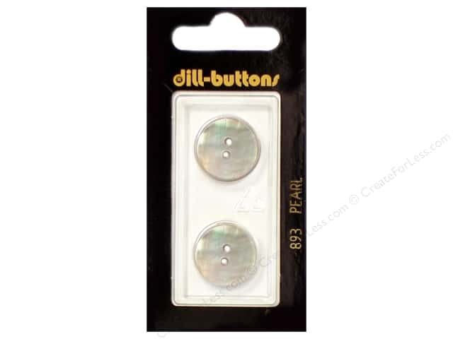 Dill 2 Hole Buttons 11/16 in. Mother of Pearl White #893 2pc.