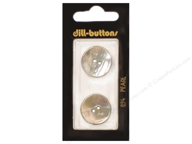 Dill 2 Hole Buttons 13/16 in. White Mother of Pearl #894 2pc.