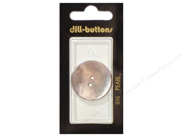 Dill 2 Hole Buttons 1 1/8 in. White Mother of Pearl #896 1pc.