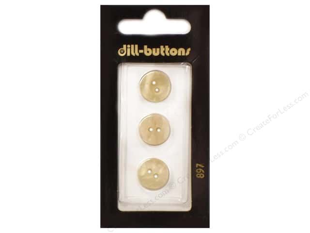 Dill 2 Hole Buttons 1/2 in. Yellow #897 3 pc.