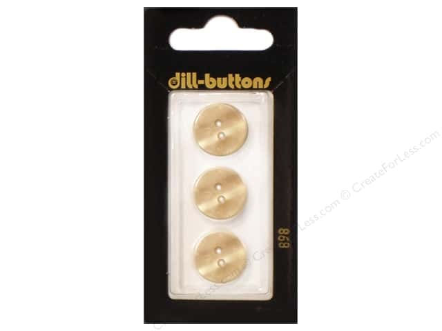 Dill 2 Hole Buttons 5/8 in. Yellow #898 3pc.