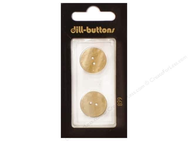 Dill 2 Hole Buttons 11/16 in. Cream #899 2pc.