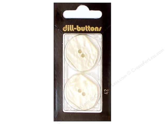 Dill 2 Hole Buttons 1 1/8 in. White #42 2pc.