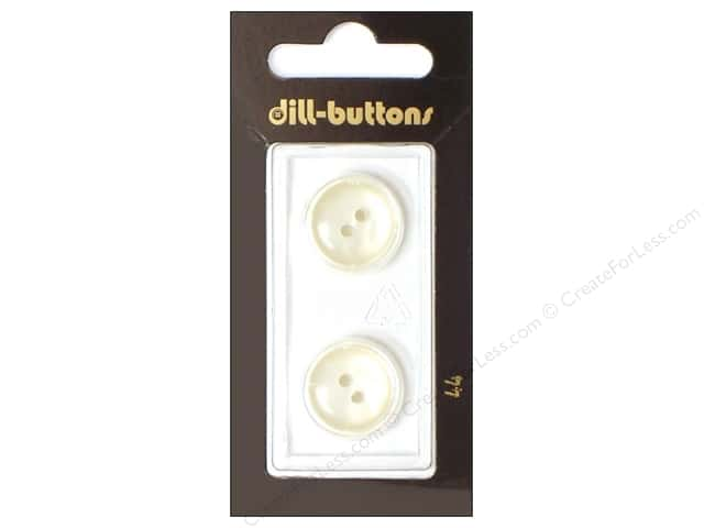 Dill 2 Hole Buttons 11/16 in. White #44 2pc.