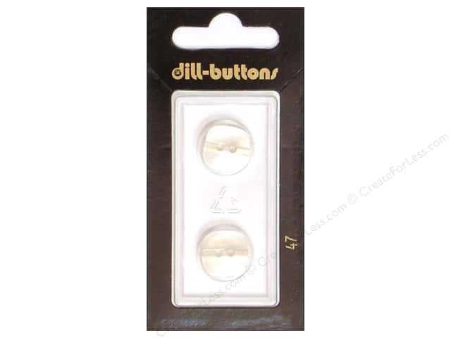 Dill 2 Hole Buttons 5/8 in. White #47 2pc.