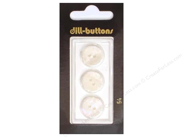 Dill 2 Hole Buttons 5/8 in. White #54 3pc.