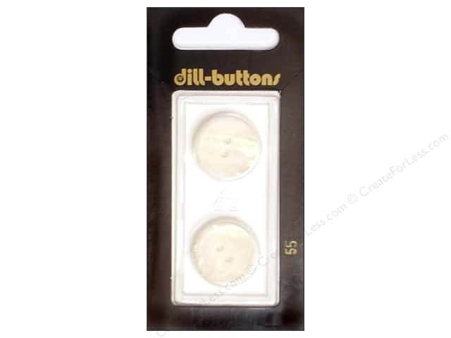 Dill 2 Hole Buttons 11/16 in. White #55 2pc.