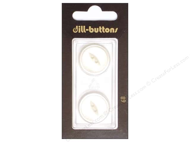 Dill 2 Hole Buttons 13/16 in. White #68 2 pc.