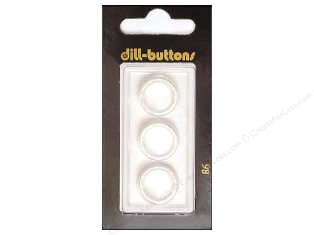 Dill Shank Buttons 5/8 in. White #86 3pc.
