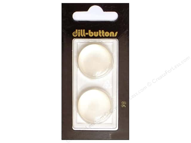 Dill Shank Buttons 7/8 in. White #98 2pc.