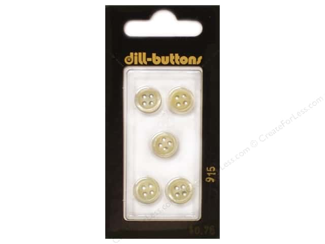 Dill 4 Hole Buttons 3/8 in. Yellow #915 5pc.