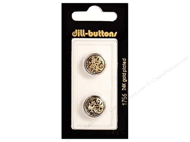 Dill Shank Buttons 5/8 in. Antique Gold #1756 2 pc.