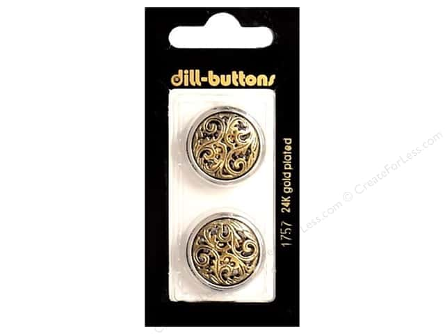 Dill Shank Buttons 7/8 in. Antique Gold #1757 2pc.