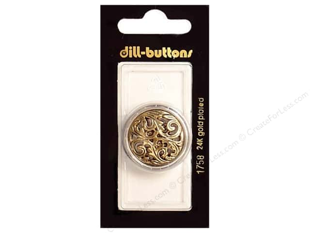 Dill Shank Buttons 1 1/8 in. Antique Gold #1758 1pc.