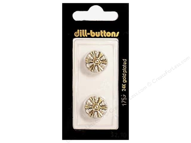 Dill Shank Buttons 5/8 in. Gold #1759 2pc.