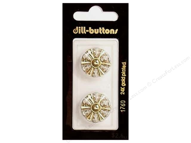 Dill Shank Buttons 13/16 in. Gold #1760 2pc.