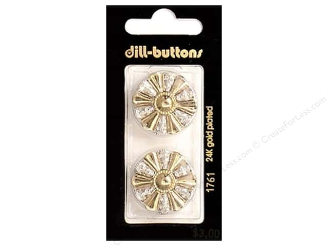 Dill Shank Buttons 1 in. Gold #1761 2pc.