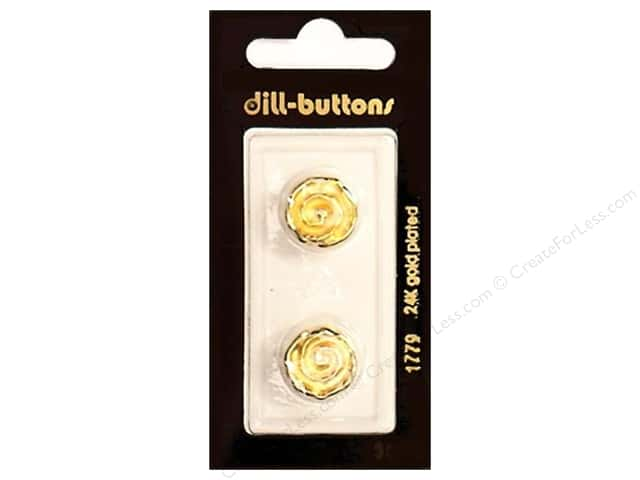 Dill Shank Buttons 5/8 in. Swirl Gold #1779 2pc.
