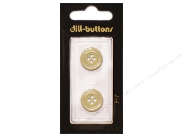Dill 4 Hole Buttons 5/8 in. Yellow #917 2pc.