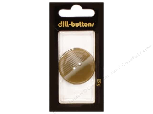 Dill 2 Hole Buttons 1 1/4 in.  Beige #960 1pc.