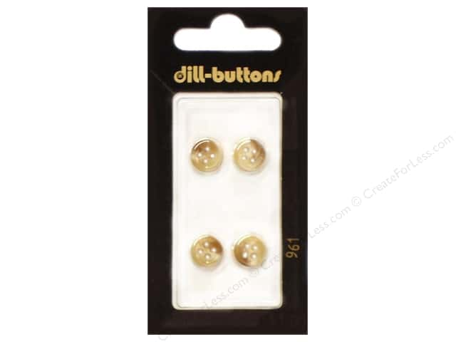 Dill 4 Hole Buttons 3/8 in. Beige #961 4pc.