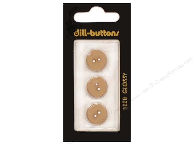Dill 2 Hole Buttons 9/16 in. Beige #1000 3pc.