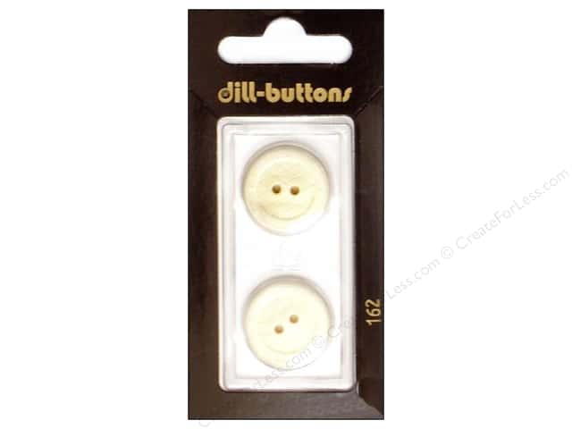 Dill 2 Hole Buttons 13/16 in. White #162 2pc.