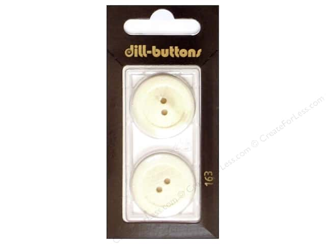 Dill 2 Hole Buttons 1 in. White #163 2pc.