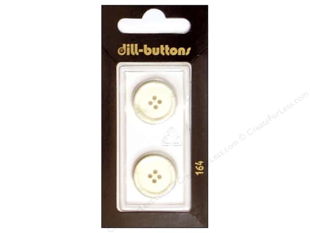 Dill 4 Hole Buttons 11/16 in. White #164 2pc.
