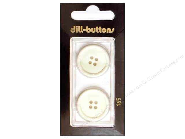 Dill 4 Hole Buttons 7/8 in. White #165 2pc.