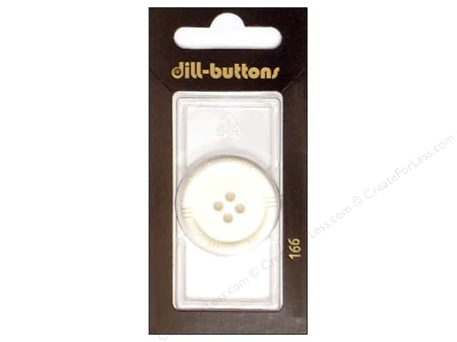 Dill 4 Hole Buttons 1 1/8 in. White #166 1pc.