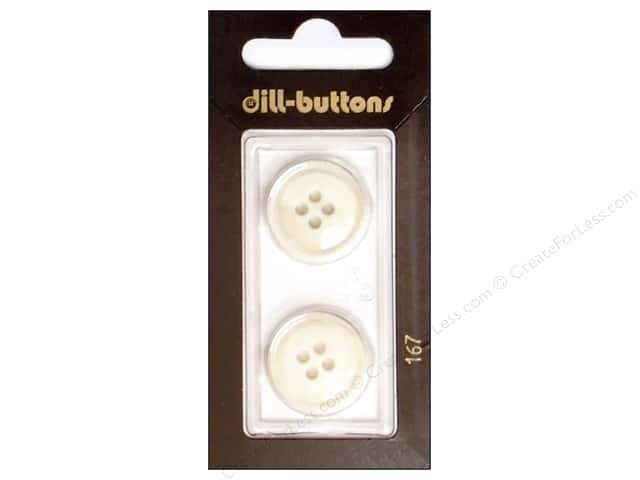 Dill 4 Hole Buttons 13/16 in. White #167 2pc.