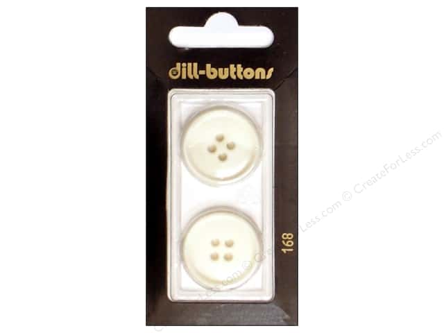 Dill 4 Hole Buttons 7/8 in. White #168 2pc.