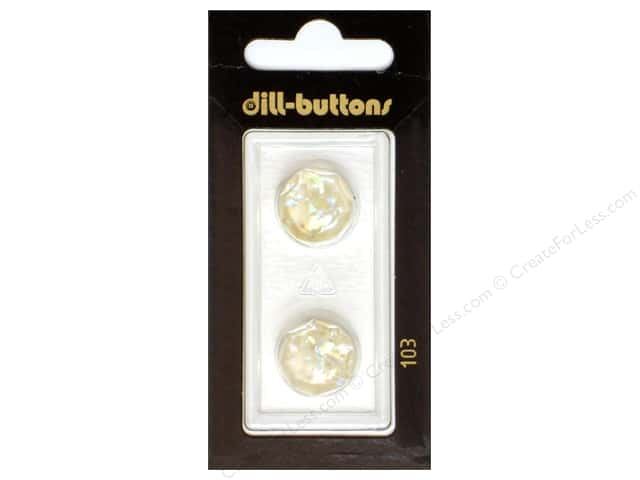 Dill Shank Buttons 5/8 in. White #103 2pc.