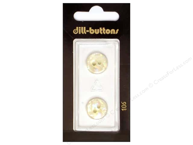 Dill 2 Hole Buttons 9/16 in. White #106 2pc.
