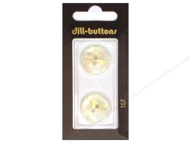 Dill 2 Hole Buttons 3/4 in. White #107 2pc.