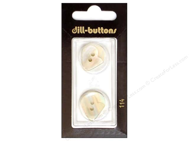 Dill 2 Hole Buttons 13/16 in. White #114 2pc.
