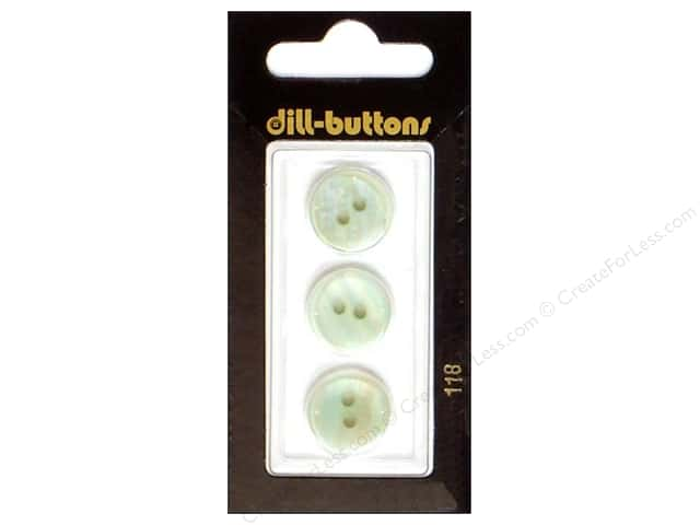 Dill 2 Hole Buttons 5/8 in. White #118 3 pc.
