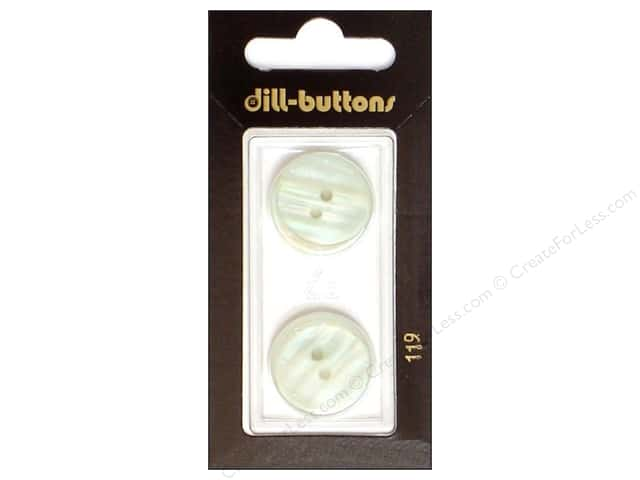 Dill 2 Hole Buttons 13/16 in. White #119 2pc.