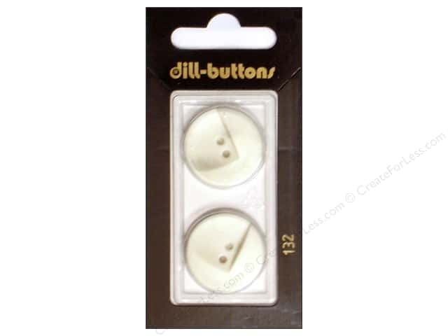 Dill 2 Hole Buttons 7/8 in. White #132 2pc.