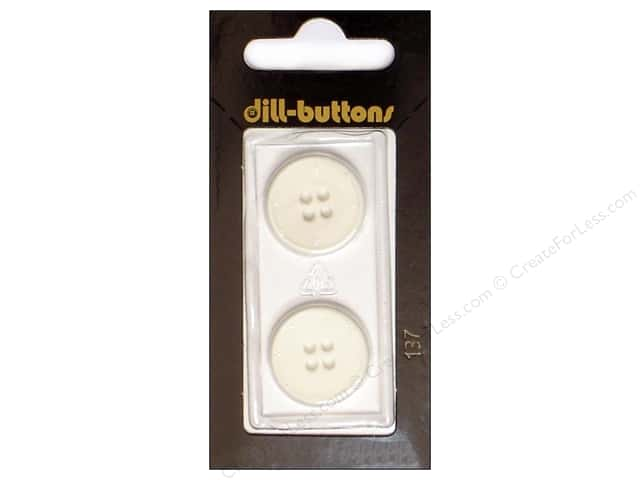 Dill 4 Hole Buttons 13/16 in. White #137 2pc.