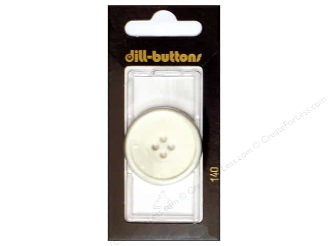 Dill 4 Hole Buttons 1 1/4 in. Ivory #140 1pc.