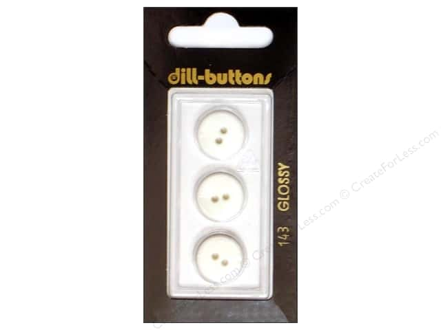 Dill 2 Hole Buttons 9/16 in. White #143 3pc.