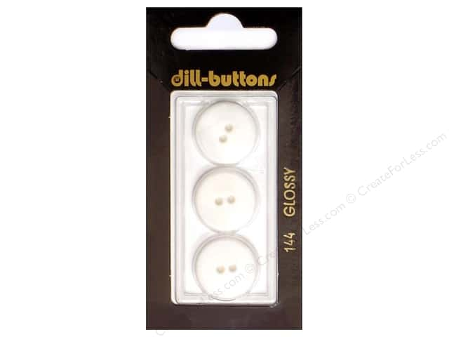 Dill 2 Hole Buttons 11/16 in. White #144 3pc.