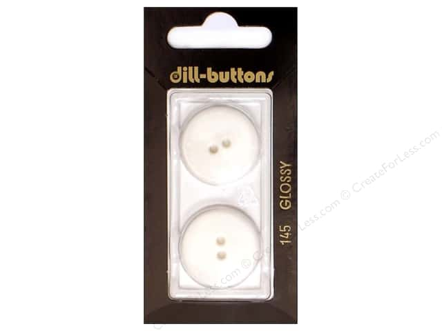 Dill 2 Hole Buttons 7/8 in. White #145 2pc.