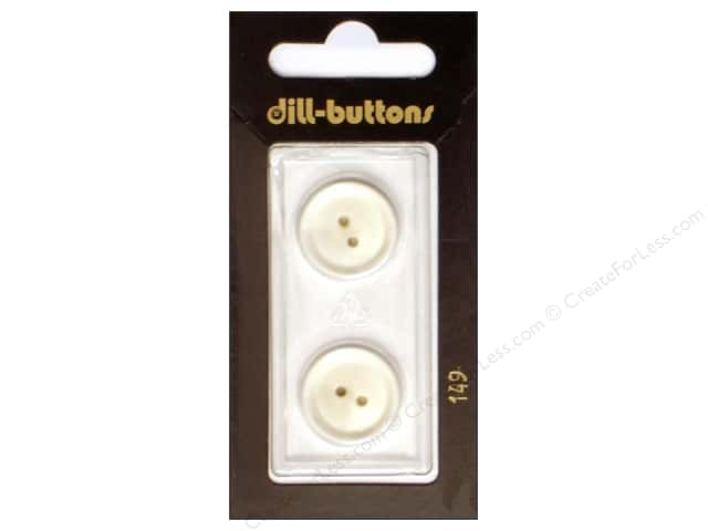 Dill 2 hole Buttons 11/16 in. White #149 2pc.